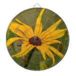 Black Eyed Susan Solitude Dartboard With Darts