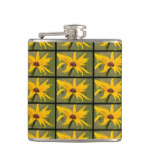 Blooming Black Eyed Susan Hip Flask