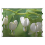 Delicate White Bleeding Heart Cloth Placemat