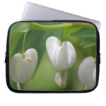 Delicate White Bleeding Heart Laptop Sleeve