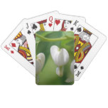 Delicate White Bleeding Heart Playing Cards