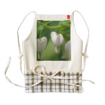 Delicate White Bleeding Heart Zazzle HEART Apron