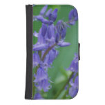 Dew on Bell Flowers Wallet Phone Case For Samsung Galaxy S4