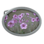 Field of Geraniums Oval Belt Buckle