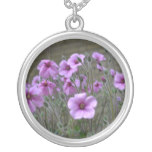 Field of Geraniums Silver Plated Necklace