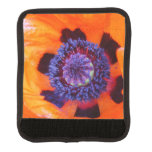 Orange Poppy Up Close Luggage Handle Wrap