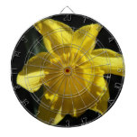 Perfect Daffodil Dartboard With Darts