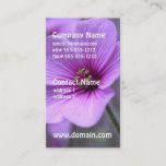 Perfect Geranium Business Card