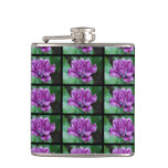 Perfectly Purple Parrot Tulip Hip Flask
