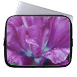 Perfectly Purple Parrot Tulip Laptop Sleeve