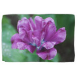 Perfectly Purple Parrot Tulip Towel
