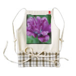 Perfectly Purple Parrot Tulip Zazzle HEART Apron