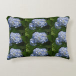 Pretty Light Blue Hydrangea Flowers Accent Pillow