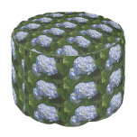 Pretty Light Blue Hydrangea Flowers Pouf