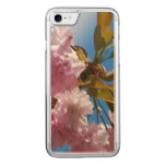 Pretty Pink Cherry Tree Carved iPhone 7 Case