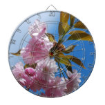 Pretty Pink Cherry Tree Dart Board