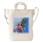 Pretty Pink Cherry Tree Duck Bag