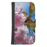 Pretty Pink Cherry Tree Galaxy S4 Wallet Case