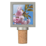 Pretty Pink Cherry Tree Wine Stopper