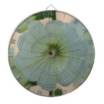Pretty White Hollyhock Dartboard With Darts