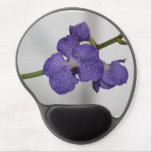 Purple and White Orchids Gel Mouse Pad