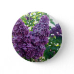 Purple Lilacs Round Button