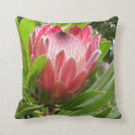 Red Protea Throw Pillow