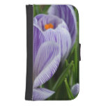 Striped Crocus Phone Wallet