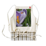 Striped Crocus Zazzle HEART Apron