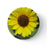 Sunflower Plant Round Button