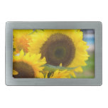 Sunflowers in Bloom Rectangular Belt Buckle