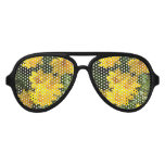 Yellow Coreopsis Aviator Sunglasses