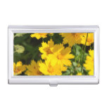 Yellow Coreopsis Business Card Holder