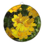 Yellow Coreopsis Dartboard