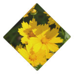 Yellow Coreopsis Graduation Cap Topper
