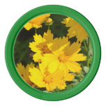 Yellow Coreopsis Poker Chips
