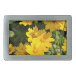 Yellow Coreopsis Rectangular Belt Buckle