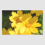 Yellow Coreopsis Rectangular Sticker