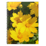 Yellow Coreopsis Spiral Notebook