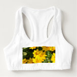 Yellow Coreopsis Sports Bra