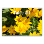 Yellow Coreopsis Table Number